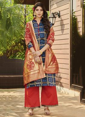 Phillauri Vol 21 Bandhani Jacquard Silk Salwar Suits Collection