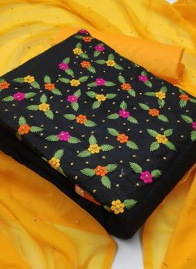 Hand Work Casual Wear PC Cotton Dress Material Collection