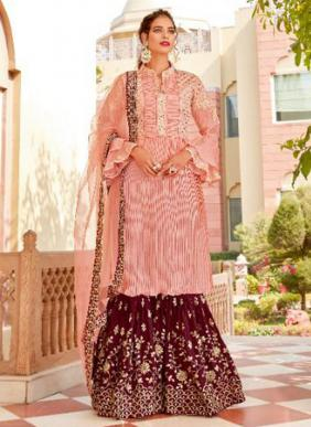 Sara Trendz Navya Vol 3 Readymade Chinnon Sharara Suits Eid Collection