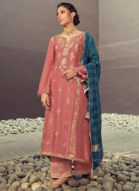 Karma Ruhaniyat Vol 2 Eid Special Jacquard Silk Palazzo Suits Collection