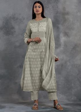 S Nirukth Ikaya Mirror Work Cotton Salwar Suits Collection