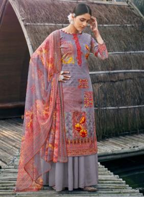 Zulfat Designer Summer Fiesta Pure Cotton Palazzo Suits Collection