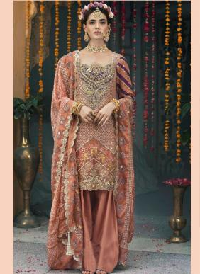 Ramsha Heavy Embroidery Work Eid Special Pakistani Suits Collection