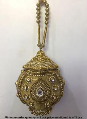 Butterfly Metal Clutch Bag With Kundan Work Wholesale Collection