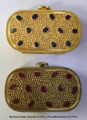 Designer Party Shiny Metal Clutches Wholesale Collection
