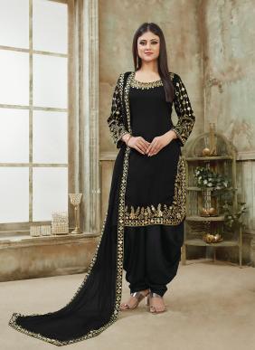 Mirror Work New Designer Art Silk Paunjabi Suits Collection