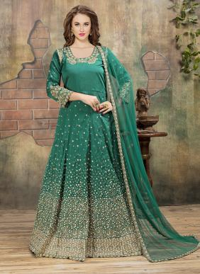 Reception Wear Heavy Embroidery Work Anarkali Suits Wholesale Collection