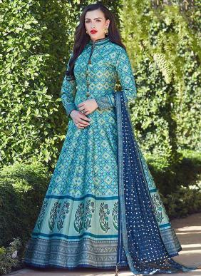 Ready Made Digital Printed Soft Silk Anarkali Suits Wholesale Collection