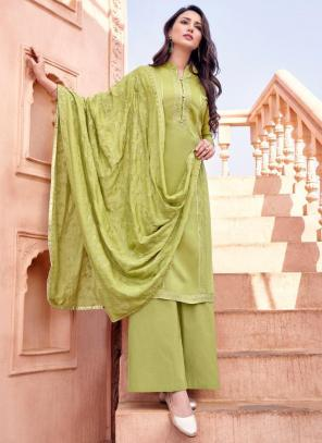 Sea Green Viscose Festival Wear Embroidery Work Straight Suit