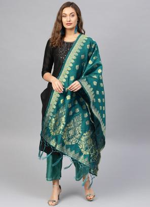 Silk Rama Wedding Wear Zari Work Dupatta