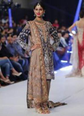 Navy Blue Net Festival Wear Embroidery Work Pakistani Suit