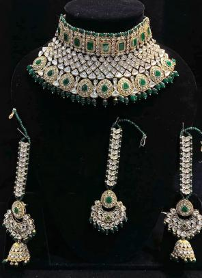Green Ethnic Designer Bridal Necklace Set