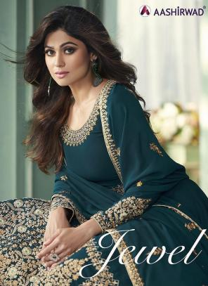 Blue Georgette Wedding Wear Embroidery Work Anarkali Suit