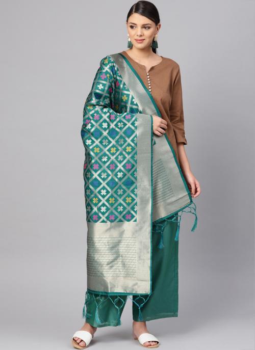 Rama Traditional Wear Banarasi Silk Zari Work Dupatta