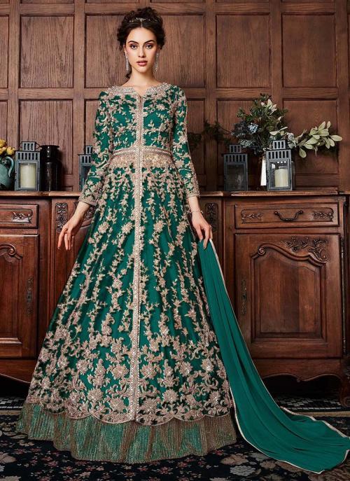 Rama Net Wedding Wear Sequins Work Anarkali Suit