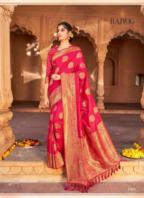 Dark Pink Pure Satin Party Wear Weaving Saree