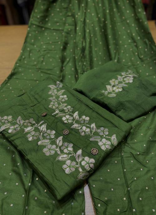 Green Rayon Festival Wear Gota Work Salwar Suit